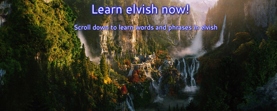 Elvish - Elijah J Johnson's Site